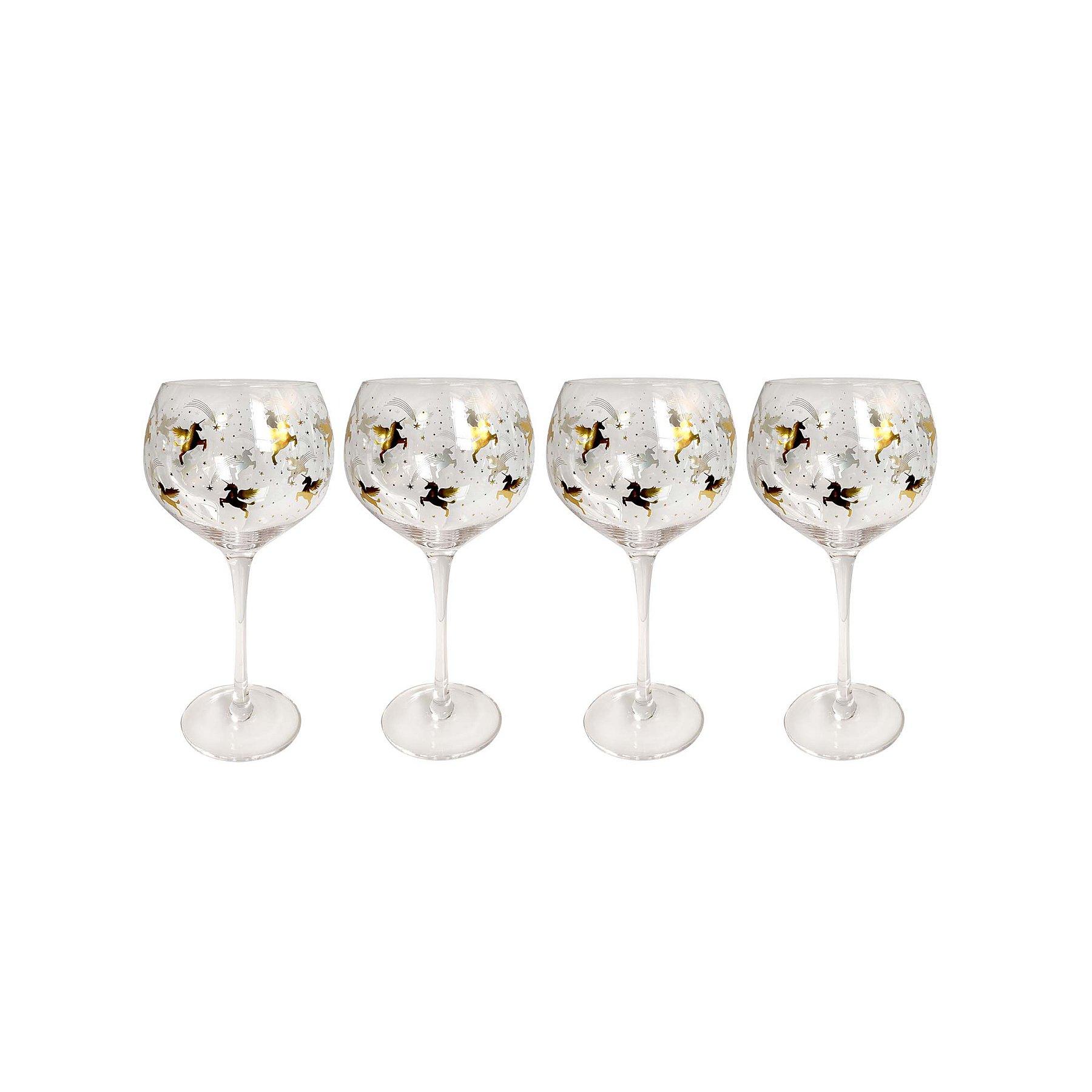 Unicorn Gin Glasses Set of 4   George at ASDA