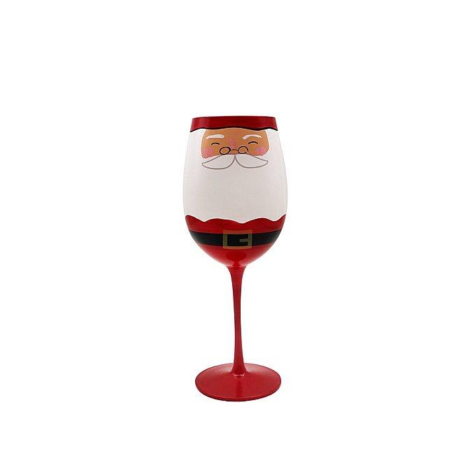 Christmas Wine.Santa Christmas Wine Glasses Set Of 4