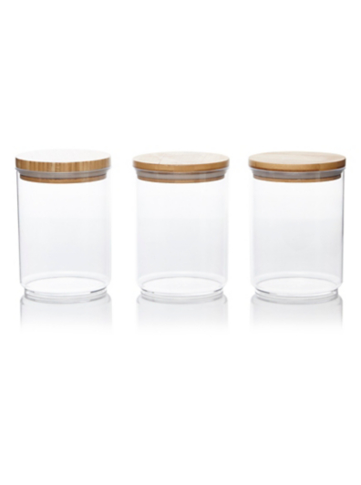 George Home Acrylic Canisters Set of 3 Kitchen Food Storage