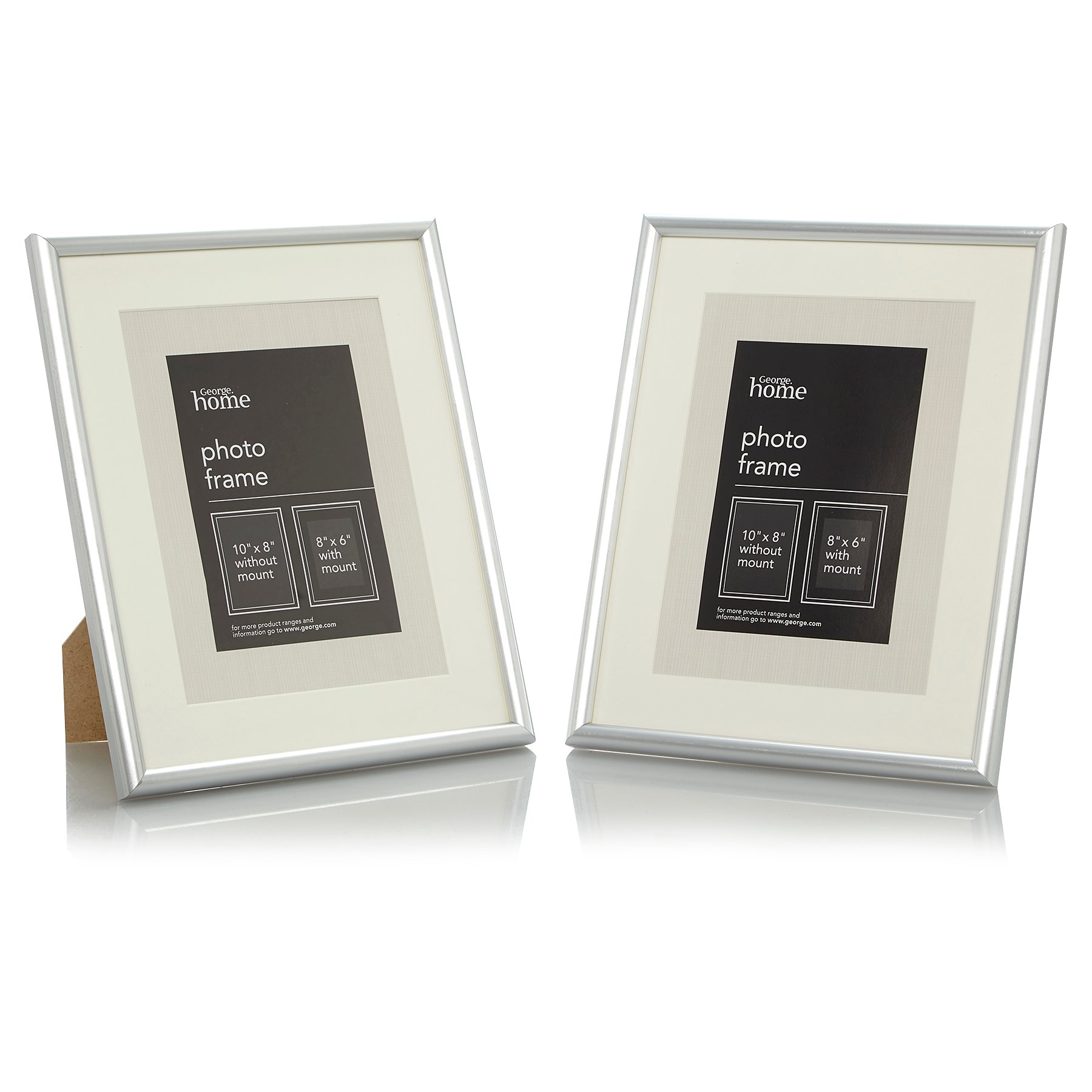 Silver Photo Frame 8 X 6 Inch 2 Pack Photo Frames George At Asda