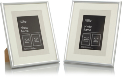 Nice Silver Photo Frame 8 X 6 Inch   2 Pack