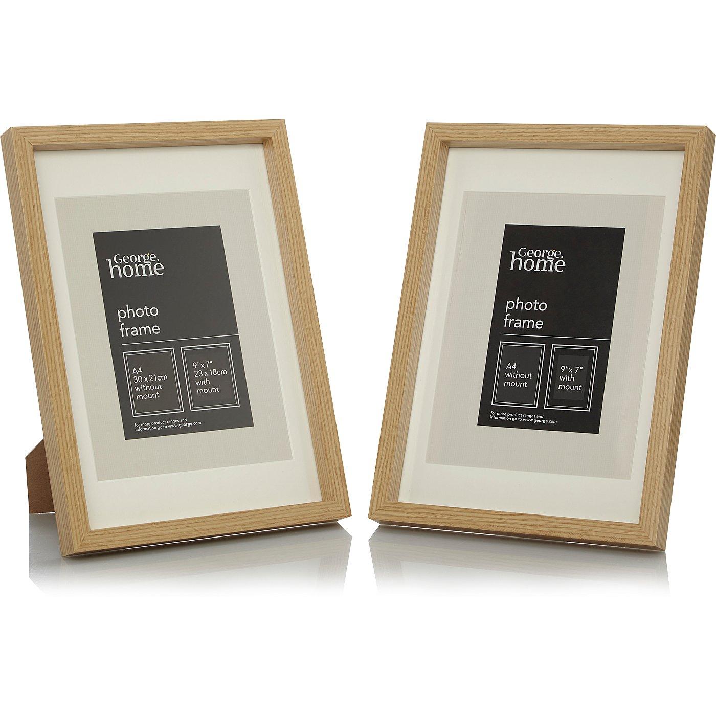 Wooden photo frame range photo frames george at asda wooden photo frame range loading zoom jeuxipadfo Images