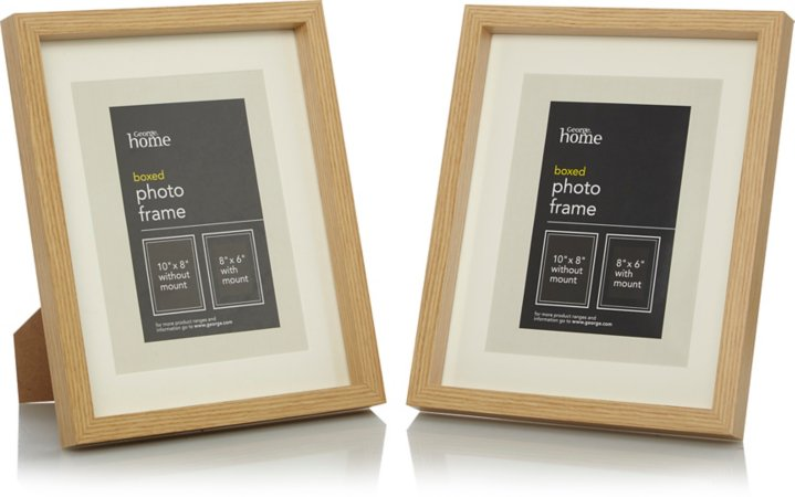 Light Wood Boxed Photo Frame Range