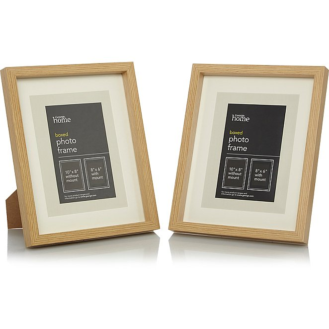 Wooden Photo Frame Range Photo Frames George At Asda