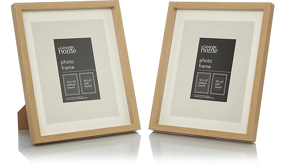 Wood Photo Frame 10 X 8 Inch - 2 Pack | Photo Frames | George at ASDA