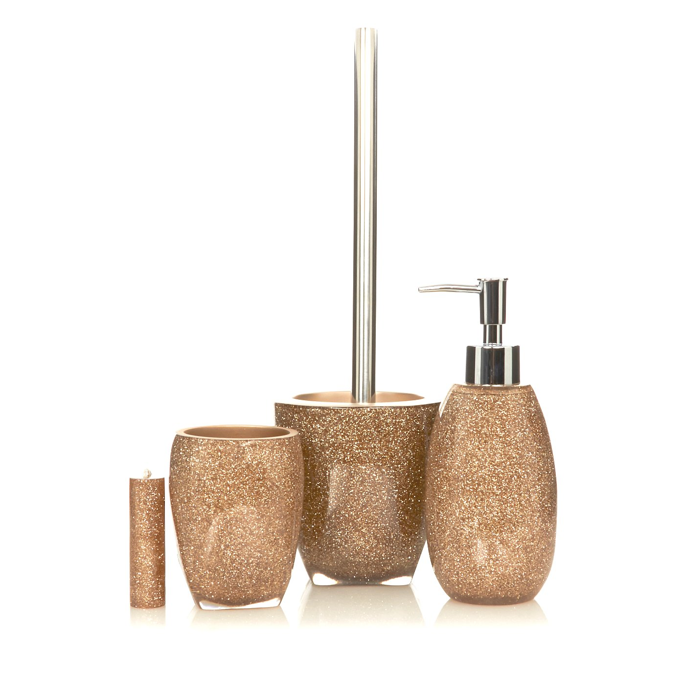 George Home Gold Glitter Bathroom Accessories  Loading zoom