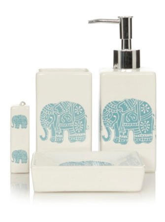 george home elephants bathroom accessories | bathroom accessories
