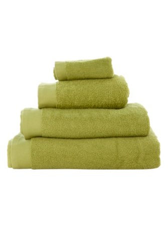 100% Cotton Towel Range - Leaf Green