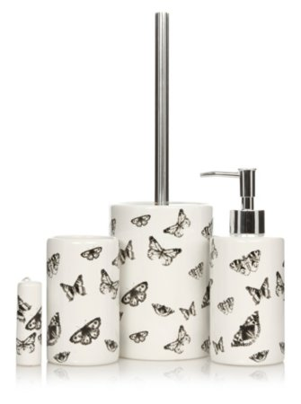 George Home Butterfly Bath Accessories Range