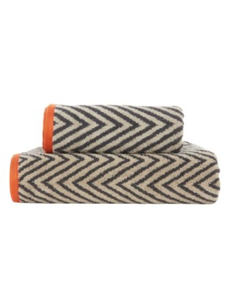 George Home Natural Chevron Towel Range