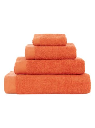 George Home 100% Cotton Towel Range - Pumpkin