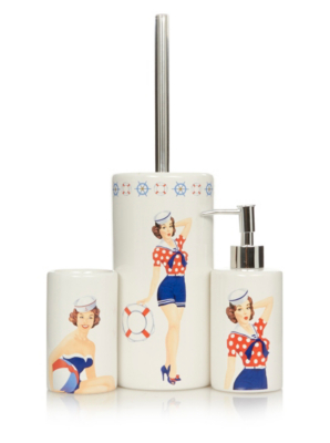 George Home Sailor Pin Up Girls Bathroom Accessories. Loading Zoom