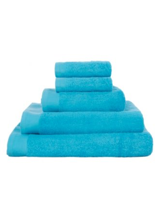 100% Cotton Towel Range - Aqua Blue