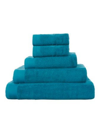 100% Cotton Towel Range - Lake Blue
