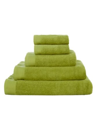 100% Cotton Towel Range - Lime Green