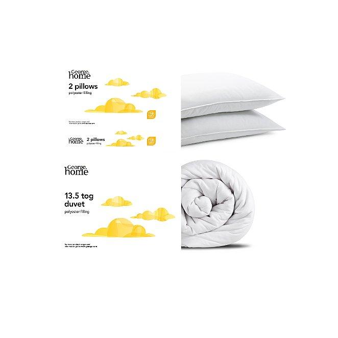 Basic Single Duvet Pillow Pair 13 5 Tog Duvets George At Asda