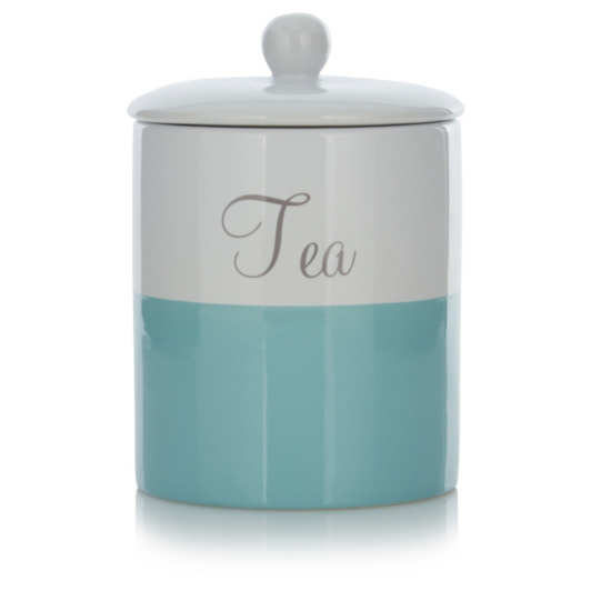 Teal Tea And Coffee Canisters The Coffee Table