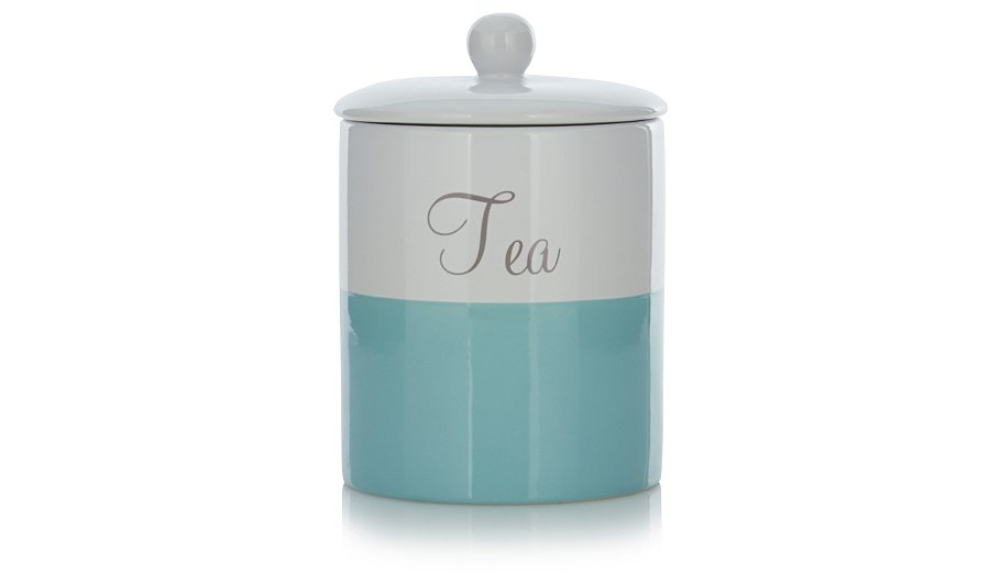 George Home Aqua Tea Coffee And Sugar Canister Set