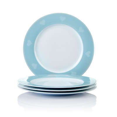 George Home Cross Stitch Heart Dinner Plates - Set of 4  sc 1 st  Asda : duck egg blue dinner plates - pezcame.com