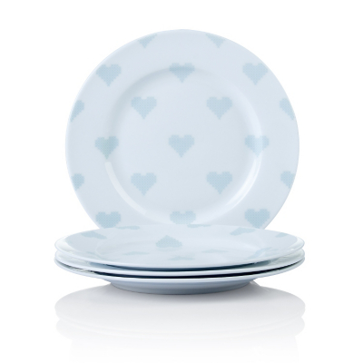 George Home Cross Stitch Heart Side Plates - Set of 4  sc 1 st  Asda : duck egg blue dinner plates - pezcame.com
