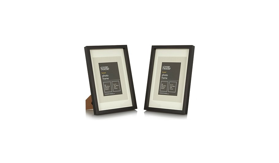 Black Boxed Photo Frame- A4 (2 Pack) | Photo Frames | George at ASDA