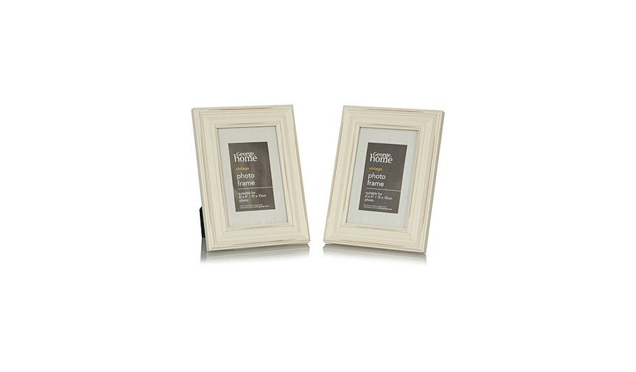 Vintage Wood Photo Frame - 6 x 4 Inch (2 Pack) | Photo Frames ...