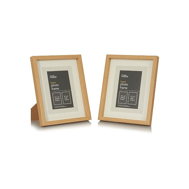 Boxed Frame 8 X 6 Inch 2 Pack Photo Frames George At Asda