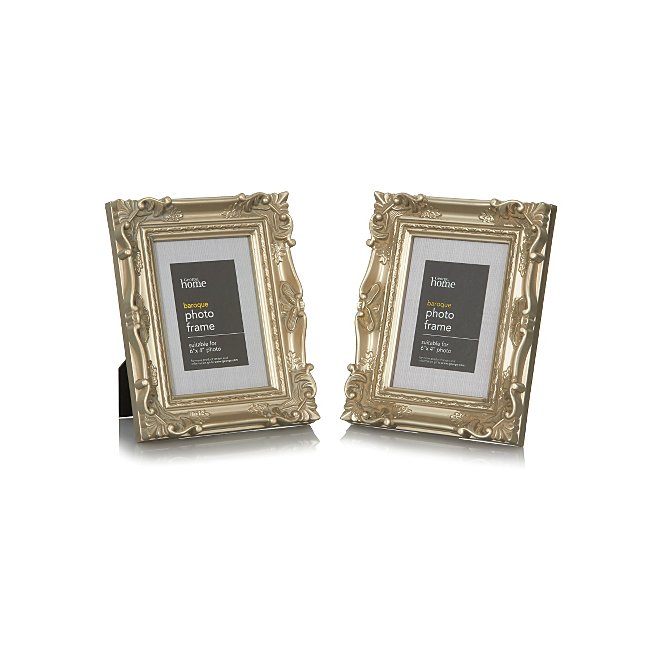 George Home Baroque Photo Frame 6 X 4 Inch 2 Pack