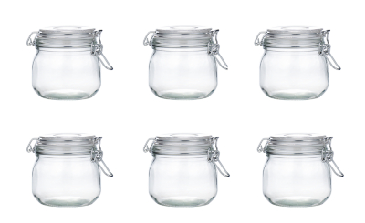 Food Storage Containers Asda Part - 25: Glass Storage Jar - Set Of 6