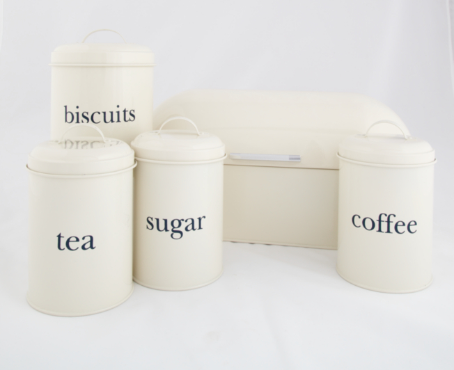 5 Piece Kitchen Food Storage Set Cream Kitchen Food Storage