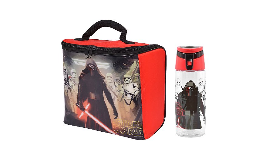 star wars lunch bag bottle kids lunchbags dinner. Black Bedroom Furniture Sets. Home Design Ideas