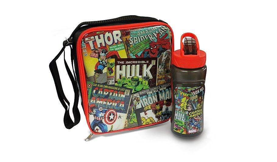avengers bottle lunch bag kids lunchbags dinner sets. Black Bedroom Furniture Sets. Home Design Ideas