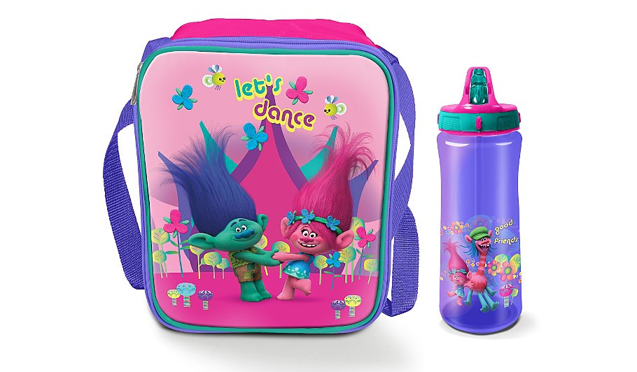 trolls bottle lunch bag kids lunchbags dinner sets. Black Bedroom Furniture Sets. Home Design Ideas