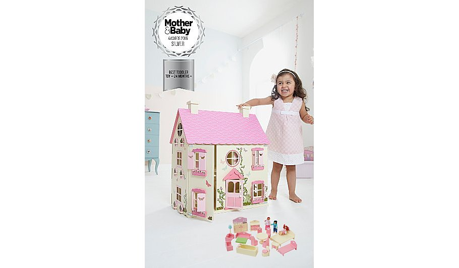 George Home Wooden Dolls House And Furniture Bundle Toys At Asda