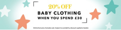 Spend and save on selected baby clothing