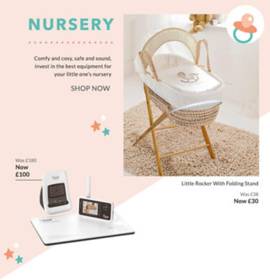 Kit their first bedroom out with our range of nursery furniture