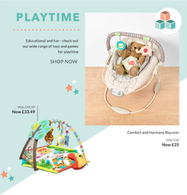 Put the play into everyday with our range of baby toys