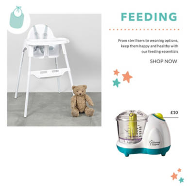 Shop our wide range of baby feeding essentials and accessories