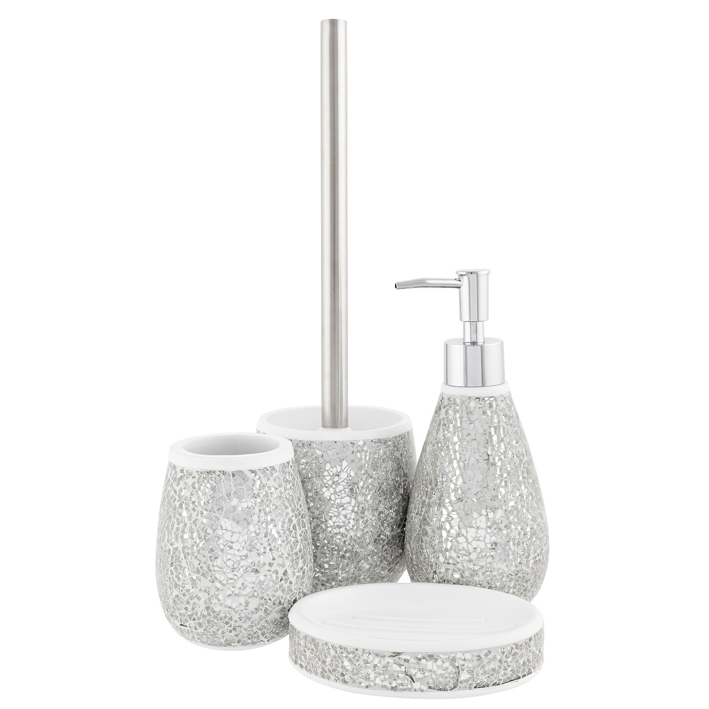 black glitter bathroom accessories. Cracked Silver Glass Bath Accessories Range  Loading zoom Bathroom