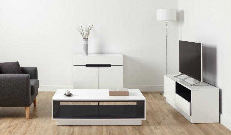 George Home Brooklyn Living Room Furniture Range - White and Grey