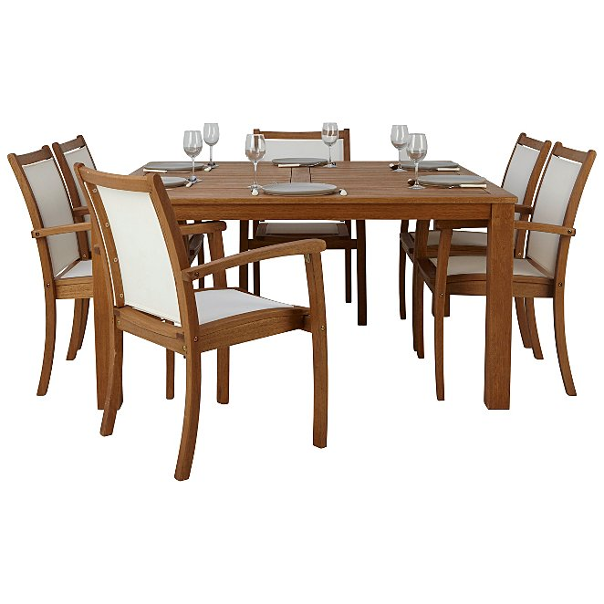 Sedona 7 Piece Classic 150x150cm Table Dining Chairs Garden Furniture George At Asda