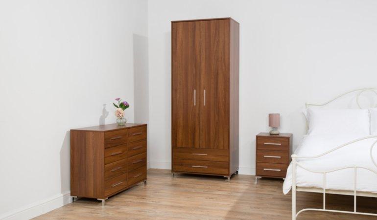 George Home Kaitlin Bedroom Furniture Range - Walnut Effect