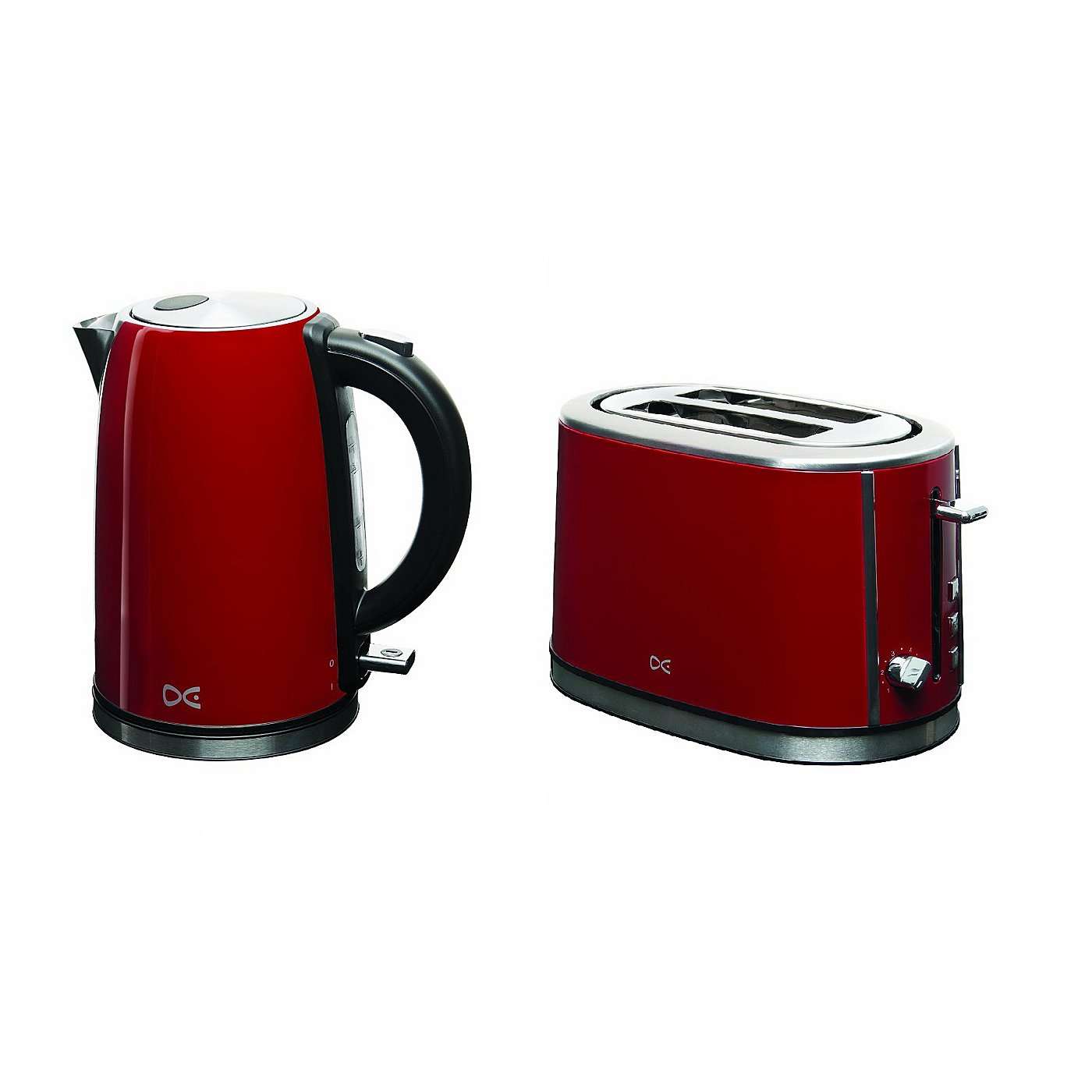 Uncategorized Asda Kitchen Appliances daewoo kettle 2 slice toaster range red kettles toasters loading zoom
