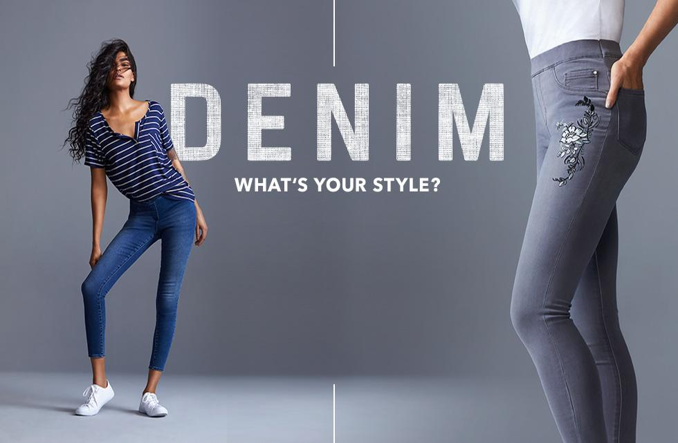 From skinny to bootcut and jeggings - find your fit at George.com