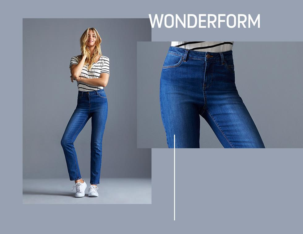 Enhance your silhouette with our fabulous Wonderform jeans at George.com