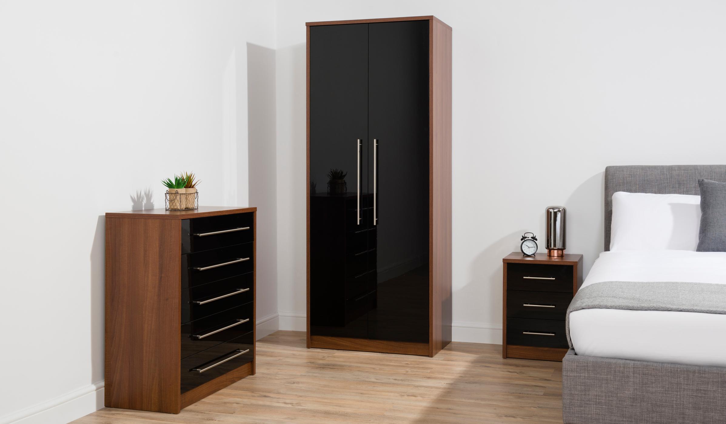 Walnut Bedroom Furniture Uk george home donahue bedroom furniture range - walnut effect and