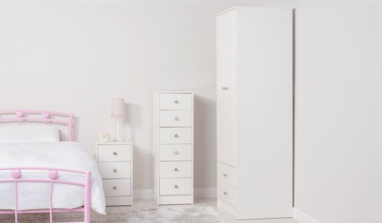 George Home Drake Kids Furniture Range - White