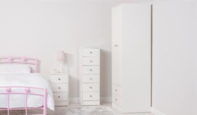 Drake Kids Furniture Range   White