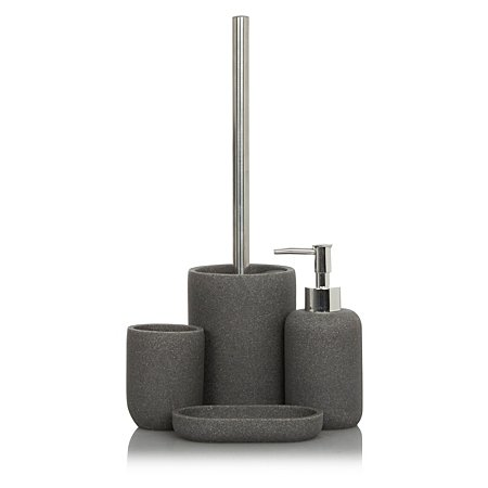 Sandstone bath accessories range bathroom accessories for Charcoal bathroom accessories