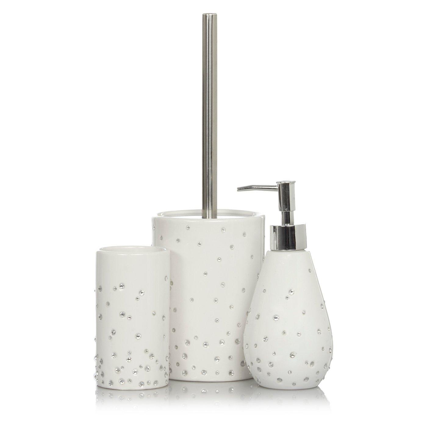 Scattered Diamante Bath Accessories Range | Bathroom Accessories ...